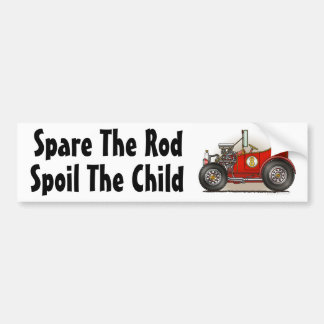 """Red Hot Rod Car Spare The Rod, S... Bumper Sticke Bumper Sticker"