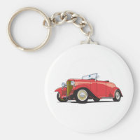 Red Hot Rod Keychain