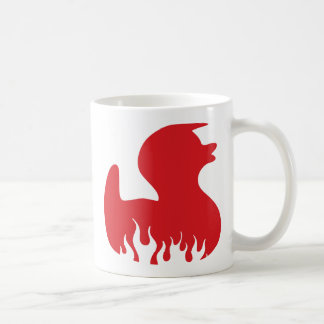 red hot rubber duckie coffee mug