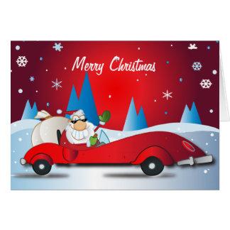 Red Hot Santa Card