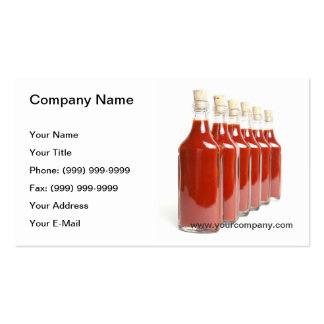 Red hot sauce business card