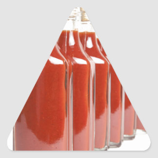 Red hot sauce triangle sticker