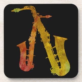 Red Hot Saxes Beverage Coaster