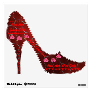 Red Hot Shoe Sale High Heel Decal