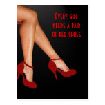 Red Hot Shoes Postcard