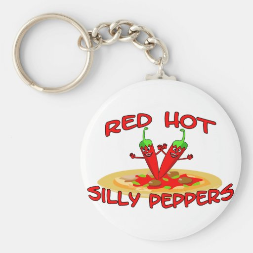 Red Hot Silly Peppers Key Chains