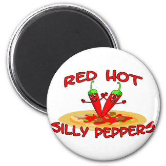 Red Hot Silly Peppers Refrigerator Magnets