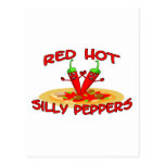 Red Hot Silly Peppers Postcard
