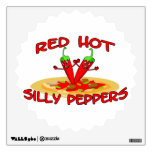 Red Hot Silly Peppers Room Decal