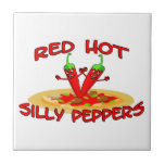 Red Hot Silly Peppers Tiles