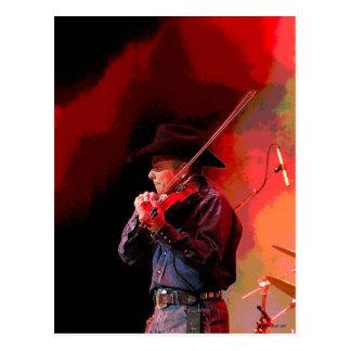 Red Hot Smokin' Fiddler Postcard