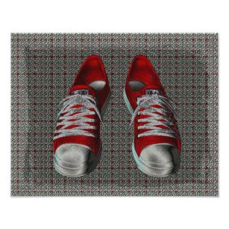 Red Hot Sneakers Poster