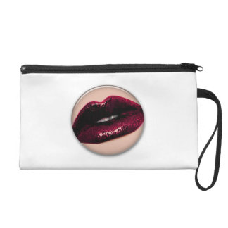 Red Hot Sparkling Kissable Lips Wristlet Purse