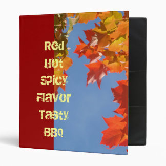 Red Hot Spicy Flavor Tasty BBQ recipes Binders