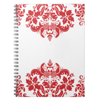Red Hot Spiral Note Book