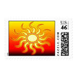 Red Hot Sun Postage Stamp