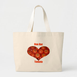 Red Hot Tomato Heart Large Tote Bag