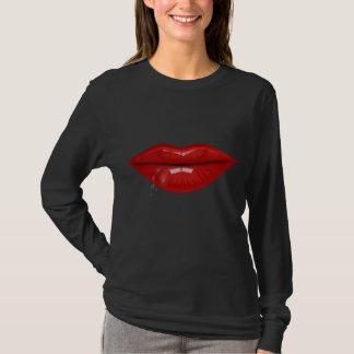 Red hot water drops lips T-Shirt