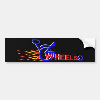 red hot wheels bumper sticker