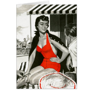 Red Hot Woman Card