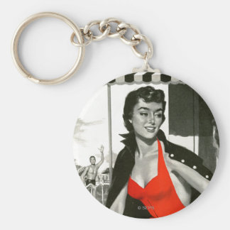 Red Hot Woman Keychain