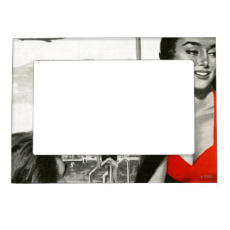 Red Hot Woman Magnetic Photo Frames
