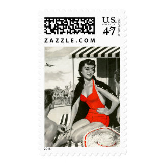 Red Hot Woman Postage