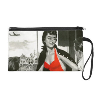 Red Hot Woman Wristlet Purse
