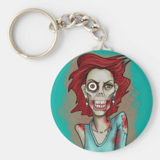 Red Hot Zombie Keychains