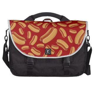 Red hotdogs laptop messenger bag