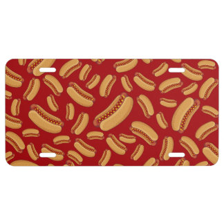 Red hotdogs license plate