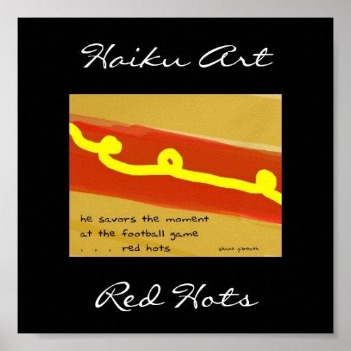 Red Hots Haiku Art Print