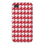 Red  houndstooth case for iPhone 4