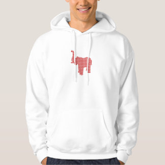 Red Houndstooth Elephant Hoody