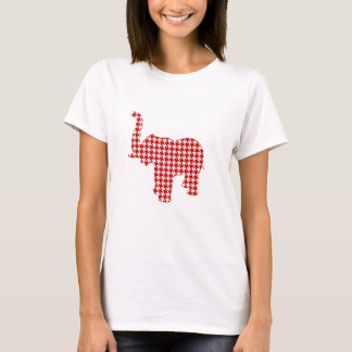 Red Houndstooth Elephant T-Shirt