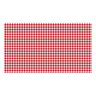 Red Houndstooth Pattern Business Cards