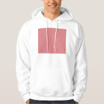 Red Houndstooth Pattern Hoodie
