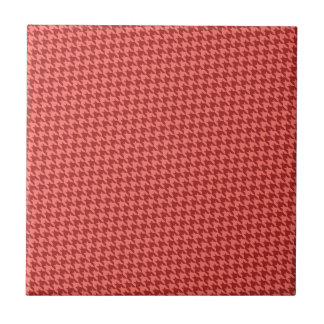 Red Houndstooth Tile