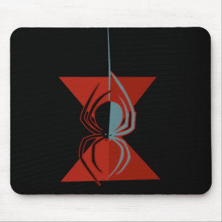 Red Hourglass Spider Mouse Pad