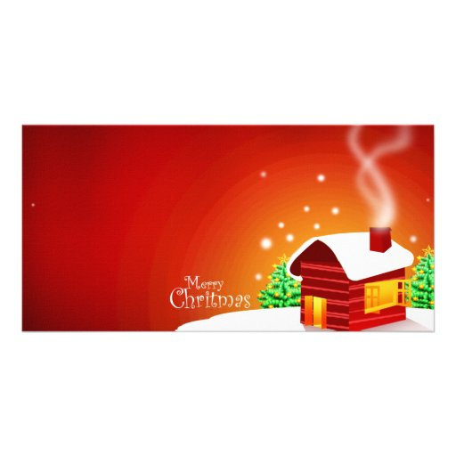 Red House Christmas Personalized Photo Card