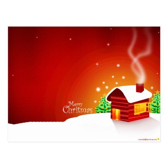 Red House Christmas Postcard