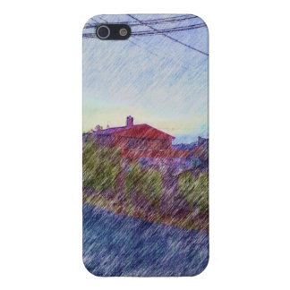 red House drawing Case For iPhone 5