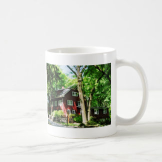 Red House on Hill Mugs
