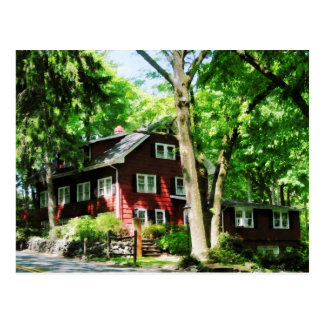Red House on Hill Postcard