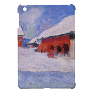 Red Houses at Bjornegaard in the Snow, Norway Cover For The iPad Mini