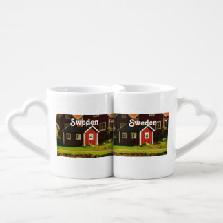 Red Houses in Sweden Couples Coffee Mug