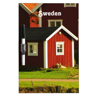 Red Houses in Sweden Dry Erase Board