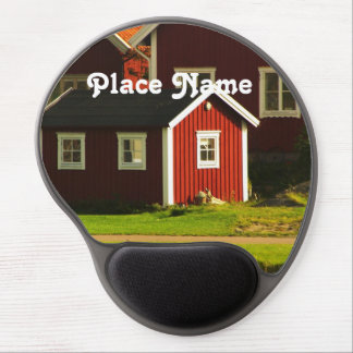 Red Houses in Sweden Gel Mouse Pad