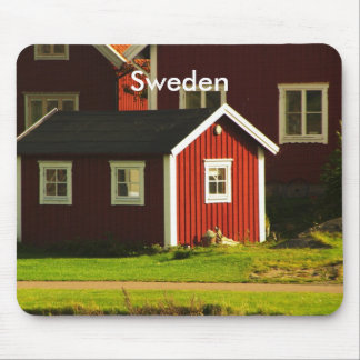 Red Houses in Sweden Mouse Pad