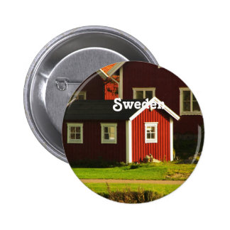 Red Houses in Sweden Pinback Button